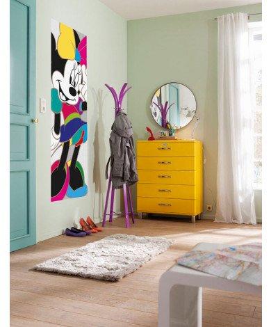 Fotobehang Minnie Colorful