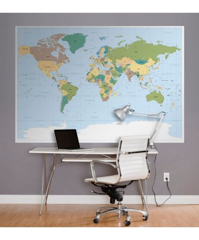 Fotobehang Wereldkaart 2