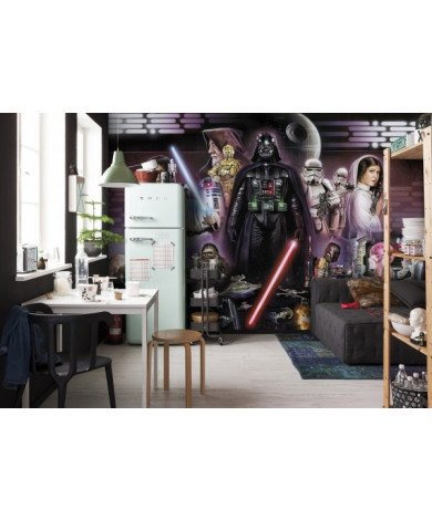 Fotobehang Star Wars Darth Vader Collage