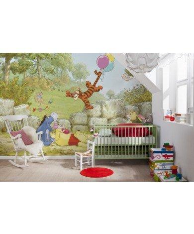 Fotobehang Winnie Pooh Ballooning
