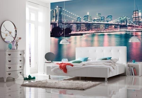 Fotobehang New York Neon
