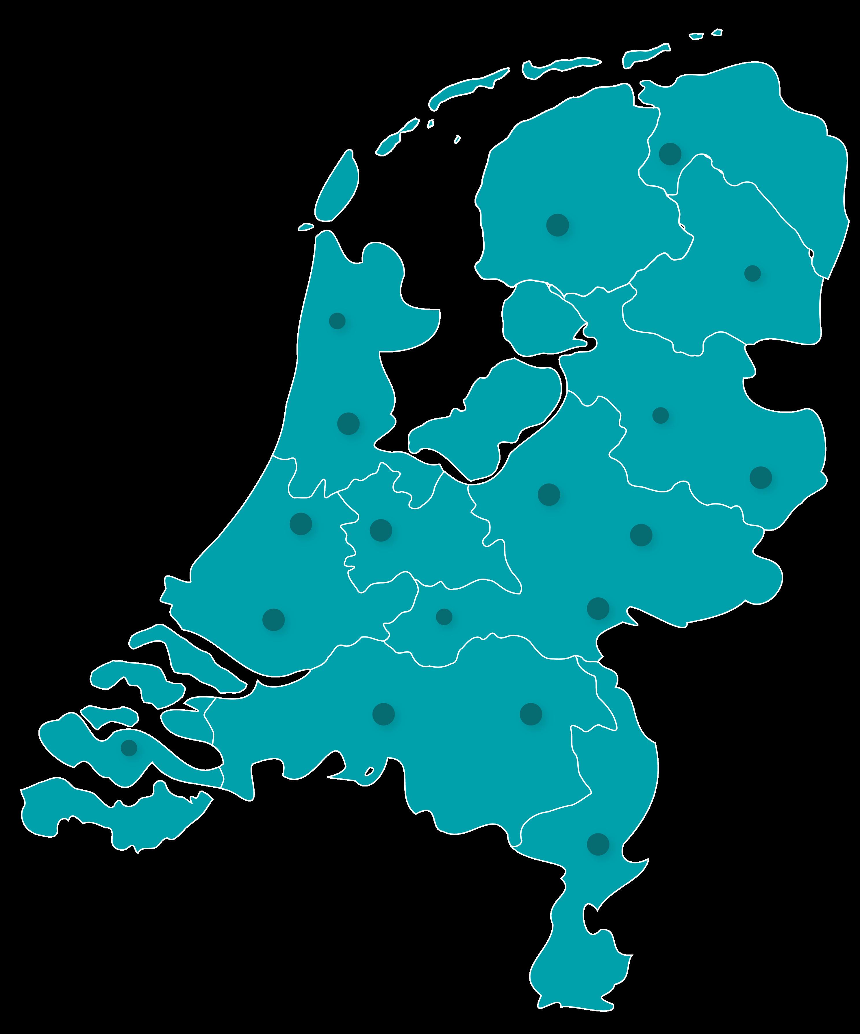 Plakservice verzorgingsgebied in heel Nederland