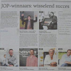 Jonge ondernemersprijs winnaars wisselend succes