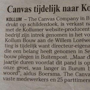 Canvas Company tijdelijk naar Kollum
